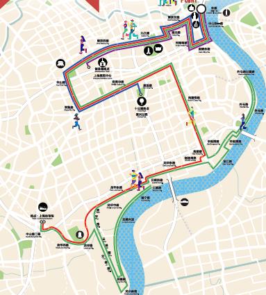 00  上海国际马拉松赛赛道贯穿